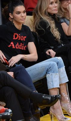 Kendall Jenner' in Shirt – Christian Dior  Shoes – Ego Tasha  Jeans – Re/Done