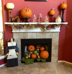 Thanksgiving fireplace and mantel 2012