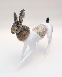 """Saatchi Online Artist: claude jones; Mixed Media, 2010, Sculpture """"lagomorph canidae(pink)"""""""