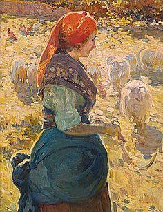 Alberto Pla y Rubio (Valencia, Spain 1867 - Hudson River School, Impressionist Artists, Visual Texture, Art Boards, My Arts, Vibrant, Drawings, Valencia Spain, Genere