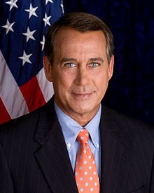 John Andrew Boehner (/ˈbeɪnər/ [a]; born November 17, 1949) is the 61st and current Speaker of the United States House of Representatives.[2] A member of the Republican Party, he is the U.S. Representative from Ohio's 8th congressional district, serving since 1991. The district includes several rural and suburban areas near Cincinnati and Dayton.