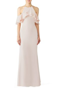 Rent Blush Crossover Gown by Badgley Mischka for $115 only at Rent the Runway.