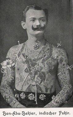 Victorian Gentleman Freak show #piercing #tattoo www.bodycandy.com