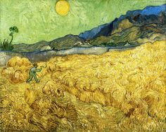 """""""Der Schnitter"""", öl auf leinwand von Vincent Van Gogh (1853-1890, Netherlands)"""
