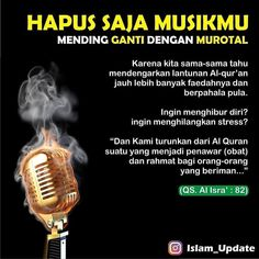 "Allah di Instagram ""Hapus aja musik di HP mu, ganti murottal... InsyaAllah makin berkah... . . _______________________"" Prophets In Islam, Hijrah Islam, Doa Islam, All Quotes, Life Quotes, Best Quotes, Reminder Quotes, Self Reminder, Muslim Quotes"