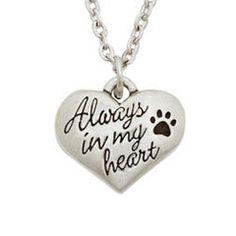 Pet Memorial Necklace - Always In My Heart