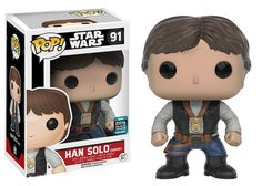 Star Wars: A New Hope: Han Solo Decorated with medal Pop figure by Funko, Star Wars Celebration Europe 2016 exclusive