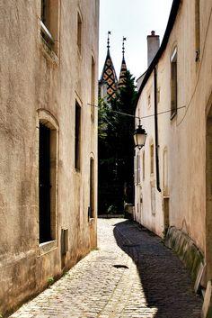 Street in Beaune, Burgundy, France