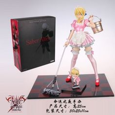 Fate/Hollow Ataraxia Saber Alter Maid Ver. 1/6 PVC Figure Pink Version