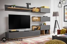 Simi - Anthracite modern entertainment center / living room wall unit Entertainment Details about Simi - Anthracite modern entertainment center / living room wall unit Living Room Tv Unit Designs, Living Room Wall Units, Modern Entertainment Center, Entertainment Wall, Entertainment Products, Tv Wall Cabinets, Tv Unit Furniture, Modern Furniture, Online Furniture