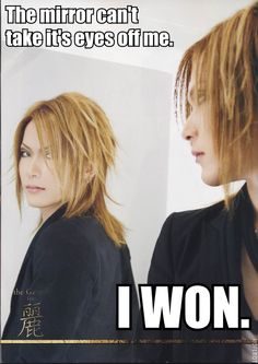 Uruha. The GazettE. It was anavoidable... Even for the mirror.. <3