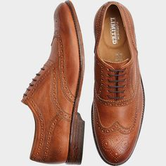 Wingtips are an awesome throwback style and they're making a serious come back! Get these Florsheim Tierney Tan Wingtip Shoes at Men's Wearhouse and be the most stylish guy in the room!