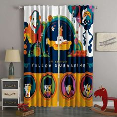 3D Printed The Beatles Style Custom Living Room Curtains – Westbedding