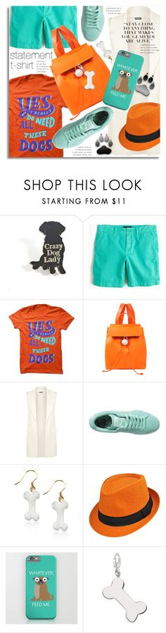 """Puppy Love"" by petri5 ❤ liked on Polyvore featuring J.Crew, Corto Moltedo, WearAll and Puma"