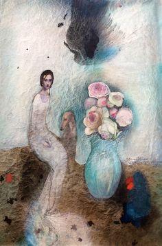 Katarína Vavrová /Painting on japan paper/