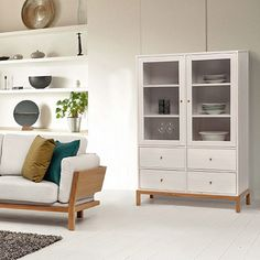 Rely Highboard - Pine Wood, Oak Wood, Glass . by Design for the Home #MONOQI