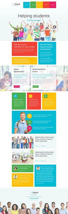 63 Best Education Web Templates Images On Pinterest Web Design