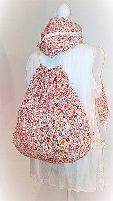 BackPack/Batoh/Vak - modro - biely folk cifrovaný / LuJo - SAShE.sk - Handmade Batohy Drawstring Backpack, Folk, Backpacks, Bags, Fashion, Handbags, Moda, Popular, Fashion Styles