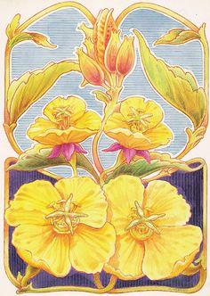 Art Nouveau Flowers ~ LAMINAS... Y TRABAJOS CON FLORES (pág. 177) | Aprender manualidades es facilisimo.com