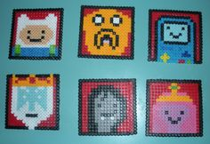 6Piece Perler Adventure Time Coaster Set by AccessoriesbyAK  $10.00