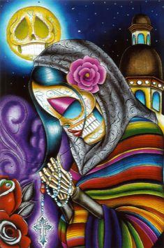 Dave Sanchez. Dia de los Muertos. Sugar Skull.