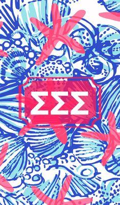 Sigma Sigma Sigma monogram Lilly background with @MonogramApp