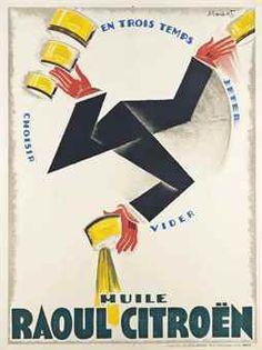 Huile Raoul Citroën - 1925 - (Charles Loupot) -