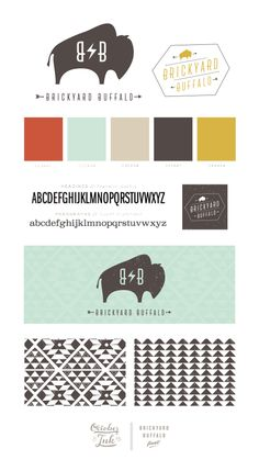 Brickyard Buffalo Branding | by October Ink | www.octoberink.com : love the colour palette and font that gives it a vintage playful feel, but not too feminine