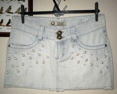 tão linda R$65,75 sainha jeans para arrasar no verão, é lindaaa, qualidade 10!