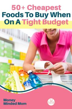 When money is tight we need to find ways to cut back on our budgets, and one of the easiest expenses to save money on is your grocery budget. There are many ways to save on food such as meal planning, couponing, buying in bulk, shopping sales, using grocery apps and much more but if you can put these strategies in place while buying the cheapest foods, you'll be able to stretch your grocery budget even further and get lower your grocery bill. Plus I share some recipes and meal ideas too! Frugal Meals, Budget Meals, Quick Easy Meals, Family Meal Planning, Budget Meal Planning, Cheap Grocery List, Cheap Meat, Groceries Budget, Save On Foods