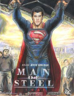 Superman Movie 2013 | Awesome 'Man Of Steel' Posters..... Fan Art
