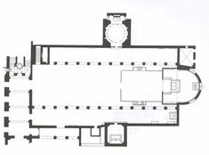 Planta Basílica Santa Sabina