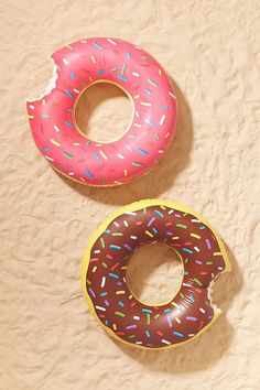 Donut pool floats, c