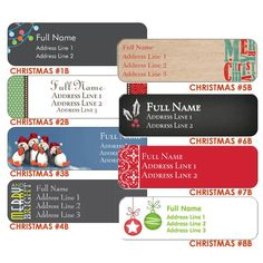 Holiday/Christmas Return Address Labels  2.66 x by DfinitiveDesign
