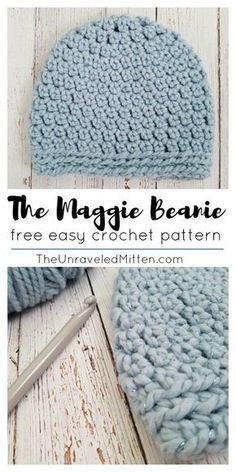 The Maggie Beanie | Free Easy Crochet Pattern | The Unraveled Mitten