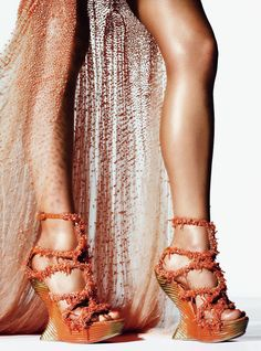 Alexander McQueen - Gown and shoes, by special order