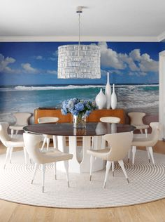 Beach Mural Wall- Transform your space with a wall mural. #design #mural