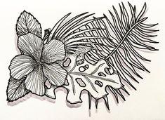 www.lucas2d.com #sketch #sketchbook #draw #drawing #ink #illustration #pattern #doodle #tropical #summer #dark #shadow #leaf #leaves #nature #natureza #folha #folhas #natural #artwork #beautiful #hibiscus #plant #plants #love #fun #graphic #design #desenho #art