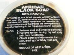 AFRICAN BLACK SOAP 100% Natural, Raw, Organic & Handmade 8oz Tub