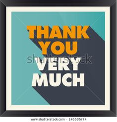 Cool design for a Thank You card. Found on Shutterstock: http://www.shutterstock.com/pic-146585774.html