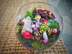Terrarium with a fairy theme - gift for the mother-in-law