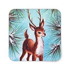 Retro vintage Christmas reindeer Square Business Card Custom Designs Business for you to fully customize Outdoor Christmas Tree Decorations, Christmas Centerpieces, Diy Christmas Ornaments, Vintage Christmas, Christmas Holidays, Christmas Wreaths, Christmas Ideas, Xmas, Christmas Things