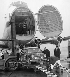 Paddy Hopkirk and GRX 5 D coming home after the farce that was the 1966 Monte Carlo rally