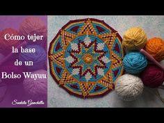 Cómo hacer un bolso Wayuu 2 * La Base *Interpretando el patrón * Saekita Ganchillo - YouTube