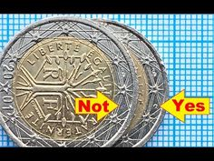 2 euro France 2001 Defect Signs on French euro coins Дефект чеканки Euro France, Sell Old Coins, Euro Coins, Valuable Coins, Silver Dimes, I Gen, Coin Collecting, French, Dm