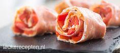 parmaham rolletjes met paprika