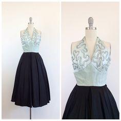 50s con cuentas vestido de fiesta / falda por CheshireVintageShop