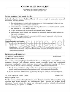 New Registered Nurse Resume Sample  Nurse Sample Cover Letter