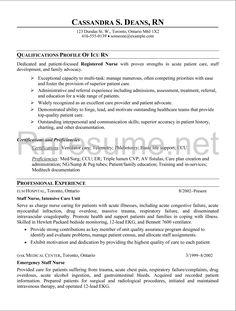 Icu Nurse Resume Examples - Examples of Resumes