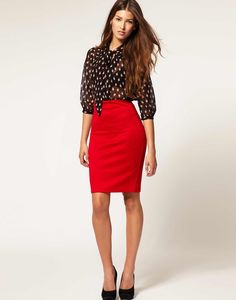 Hmmm now I have an idea for that red pencil skirt in my closet....